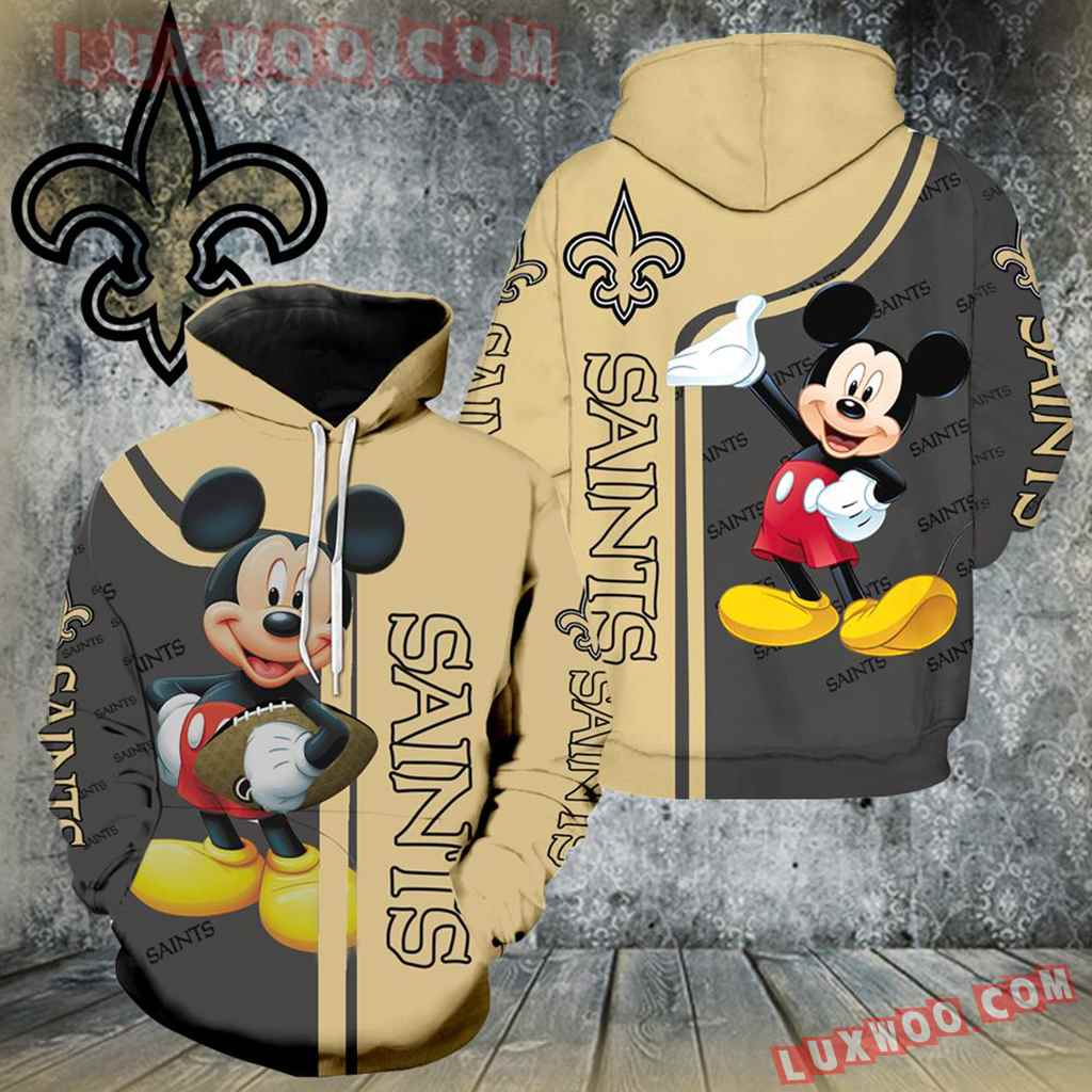 New Orleans Saints Mickey Mouse All Over Print K1049