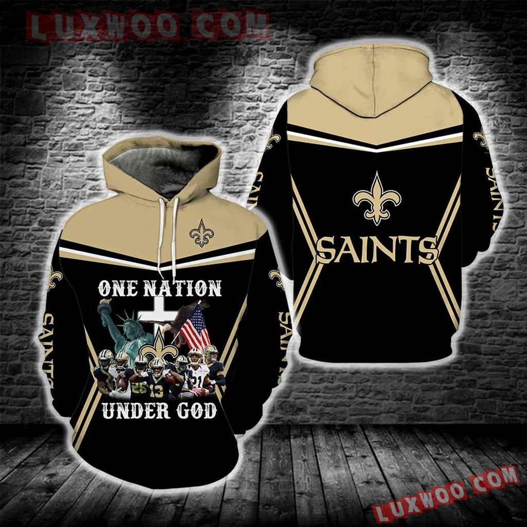 New Orleans Saints One Nation Under God New Full All Over Print S1692