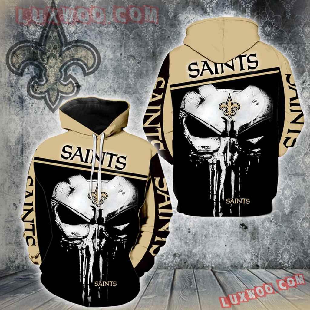 New Orleans Saints Punisher New Skull Full All Over Print K1228