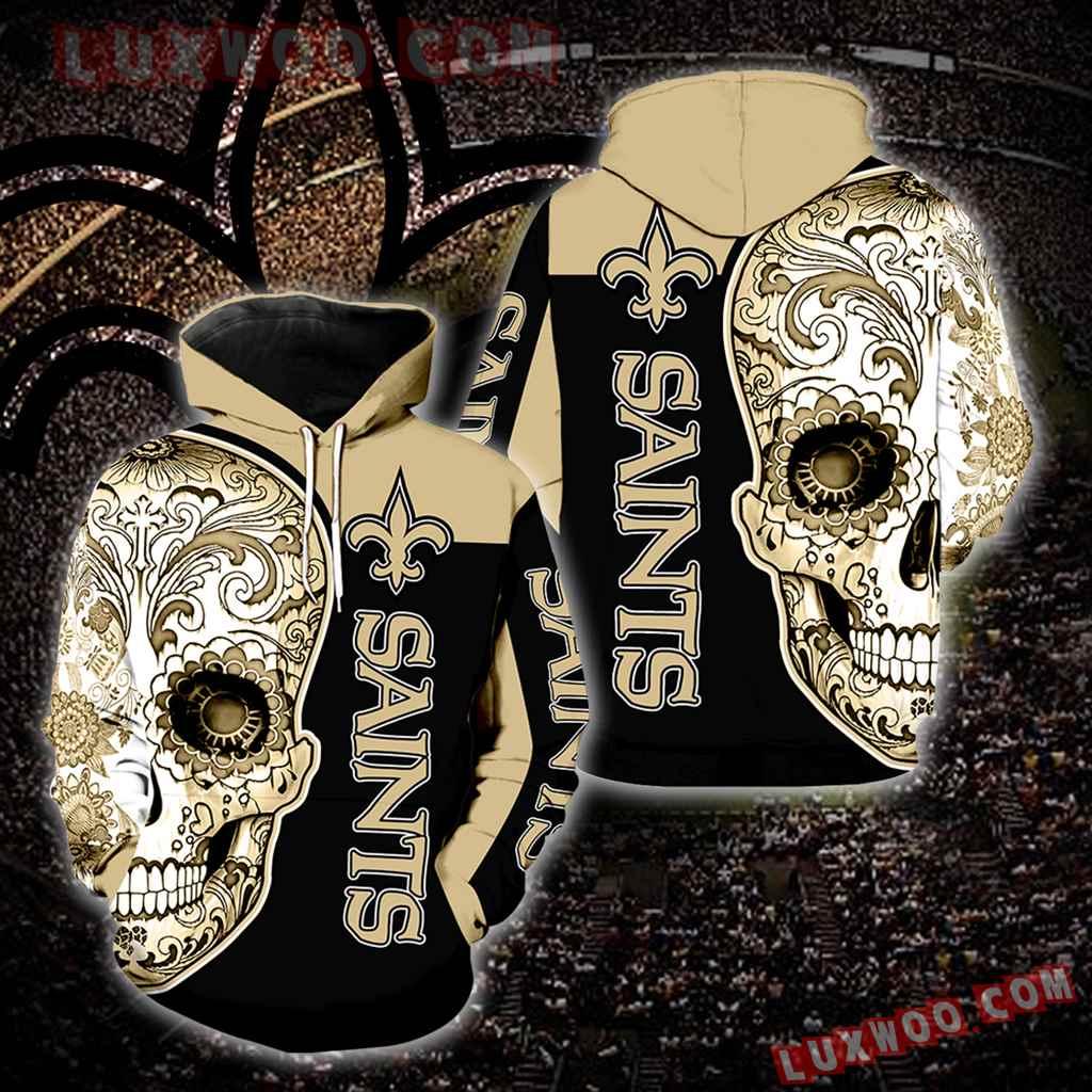 New Orleans Saints Skull Full Over Print K1036