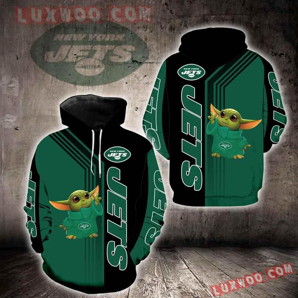 New York Jets Baby Yoda Green New Full All Over Print V1488