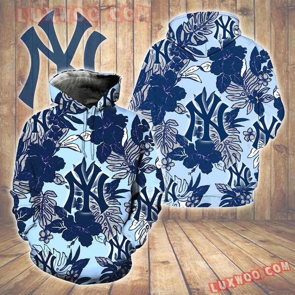 New York Yankees Hawaiian Tropical Flower New Full All Over Print V1581