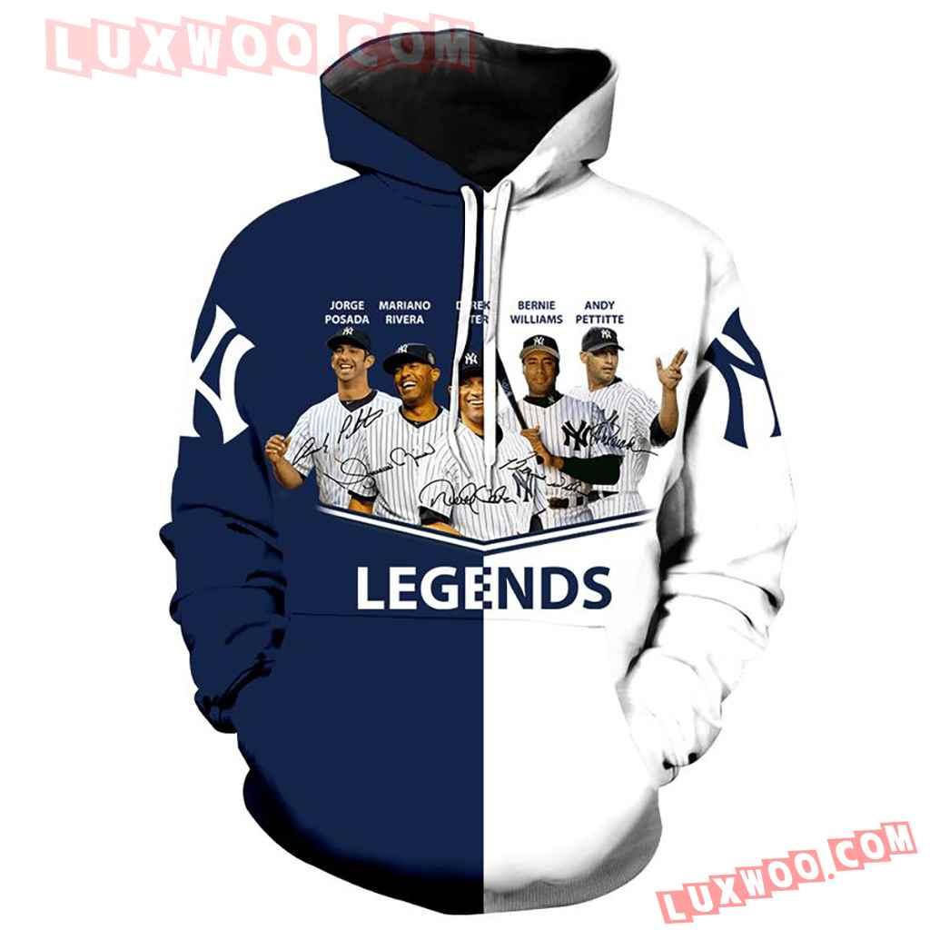 New York Yankees The 5 Legends Full Over Print