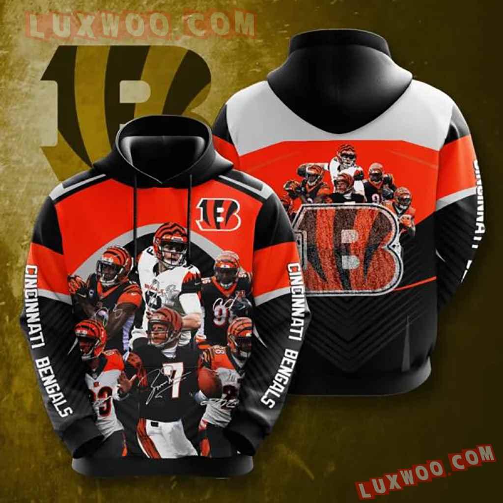 Nfl Cincinnati Bengals 3d Hoodie 14
