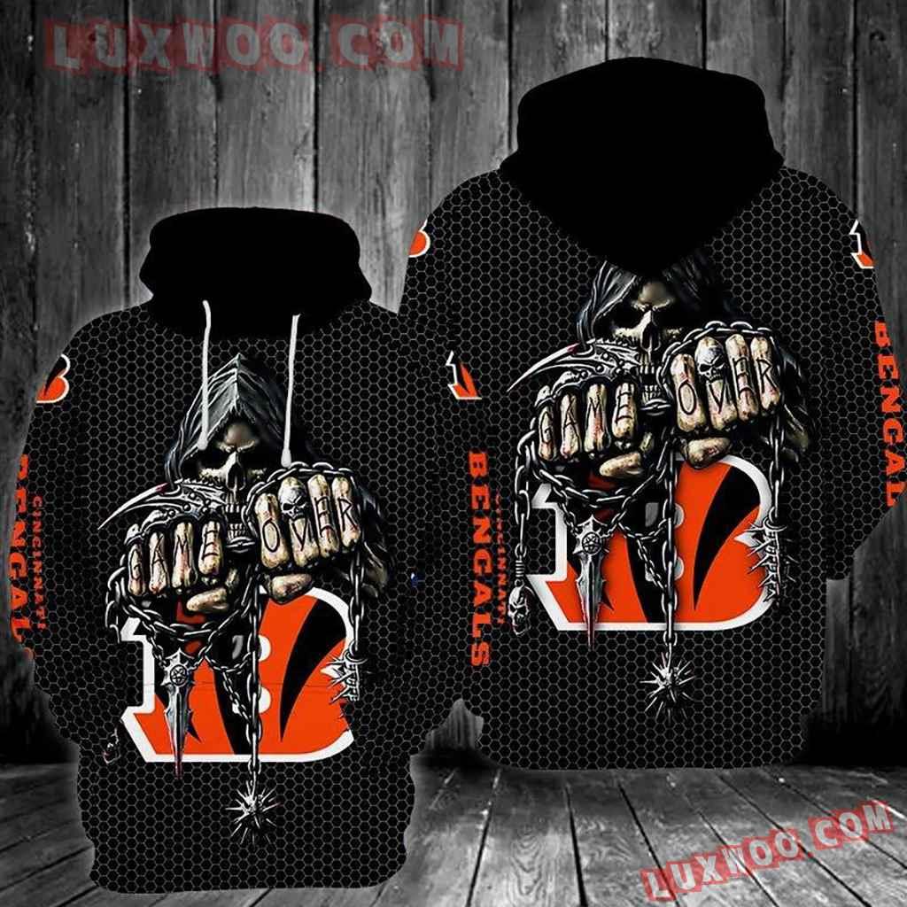 Nfl Cincinnati Bengals 3d Hoodie Tnt-00510-auh