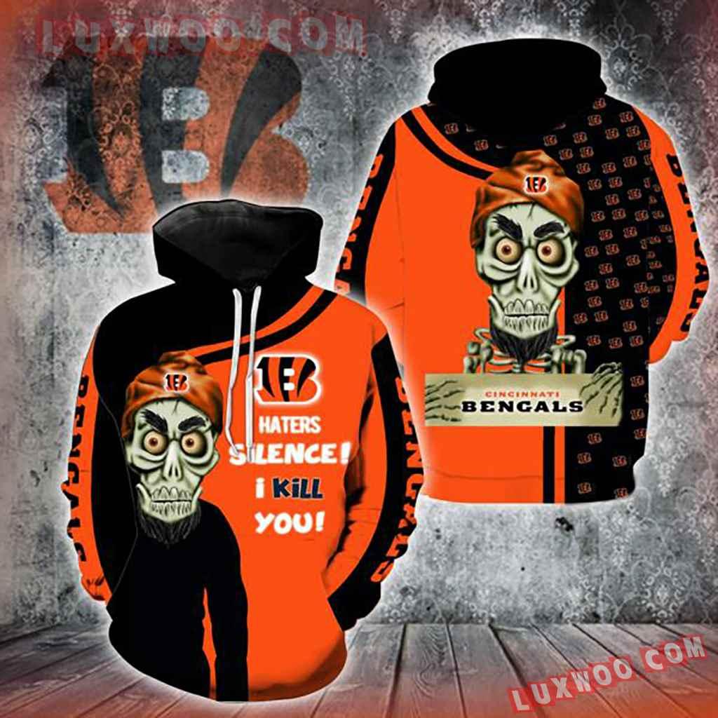 Nfl Cincinnati Bengals Achmed Skull 3d Hoodie Full All Over Print V1411
