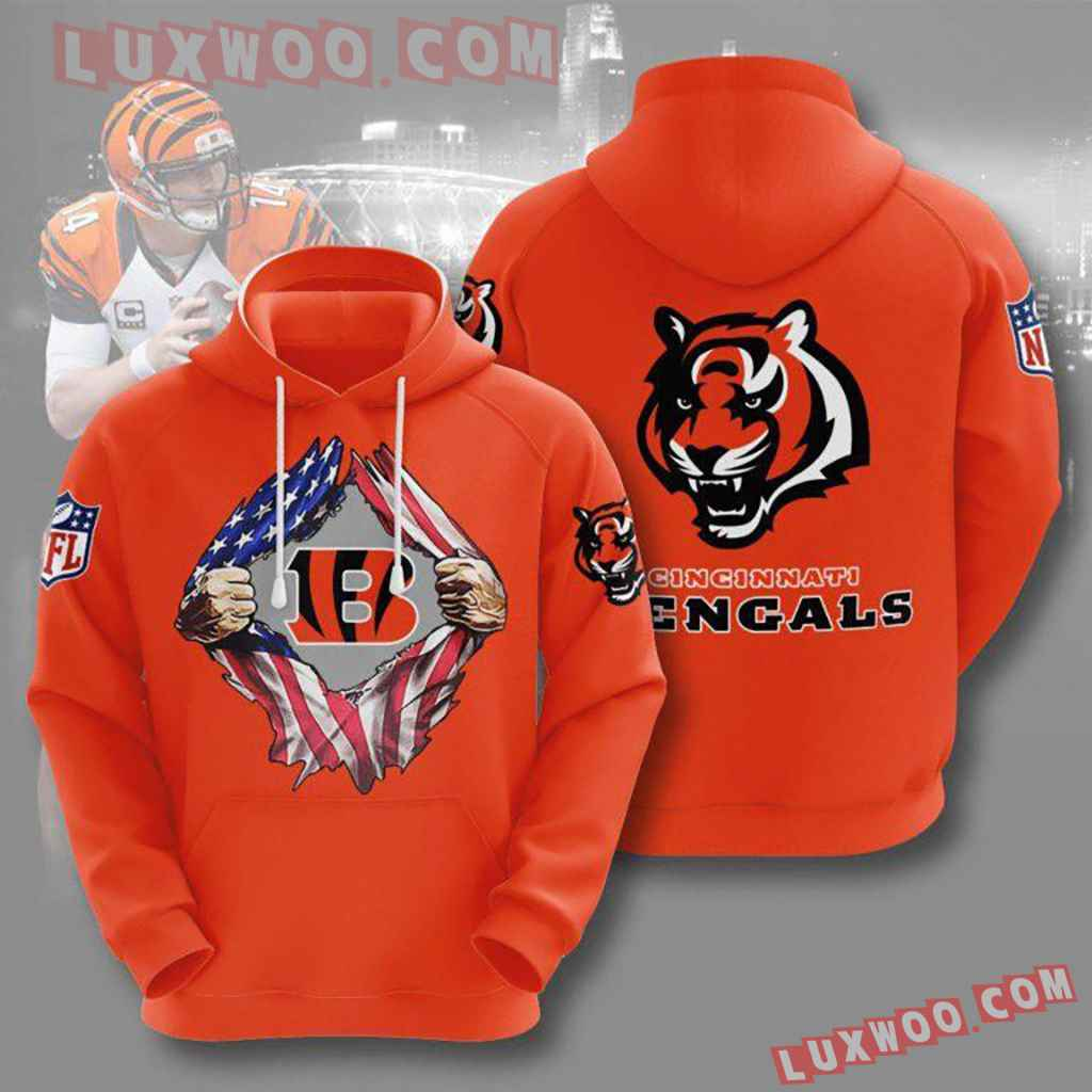 Nfl Cincinnati Bengals American Pullover And Zippered Hoodies Custom 3