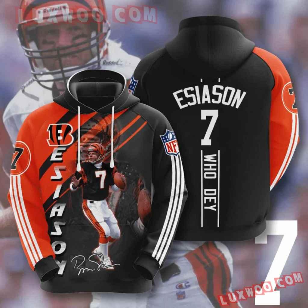 Nfl Cincinnati Bengals Boomer Esiason 3d Hoodie For Men For Women All