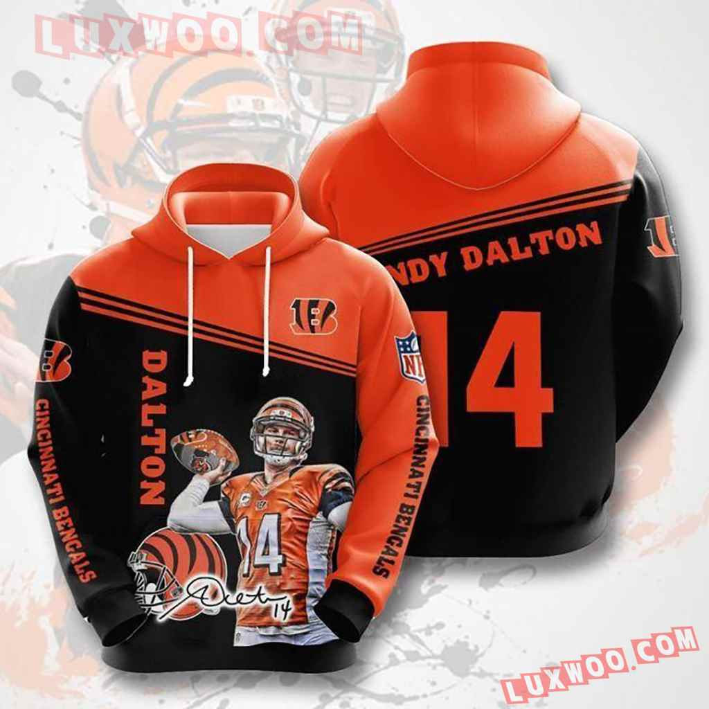 Nfl Cincinnati Bengals Dalton 14 Pullover And Zippered Hoodies Custom