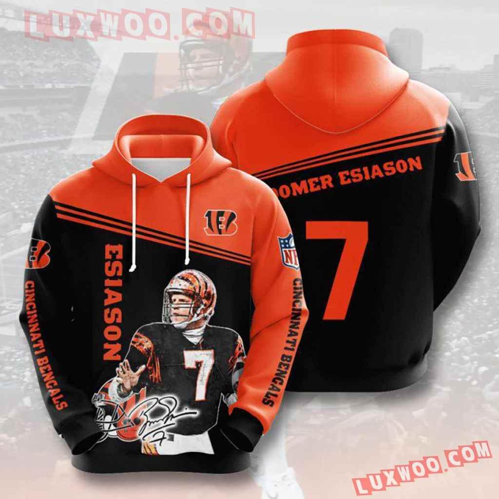 Nfl Cincinnati Bengals Esiason 7 Pullover And Zippered Hoodies Custom