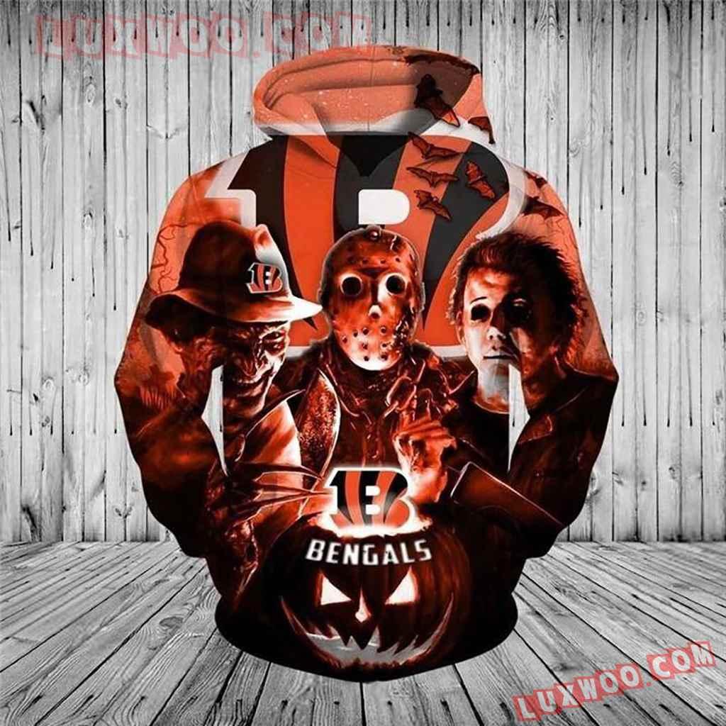 Nfl Cincinnati Bengals Halloween Horror Night Pullover And Zippered Ho