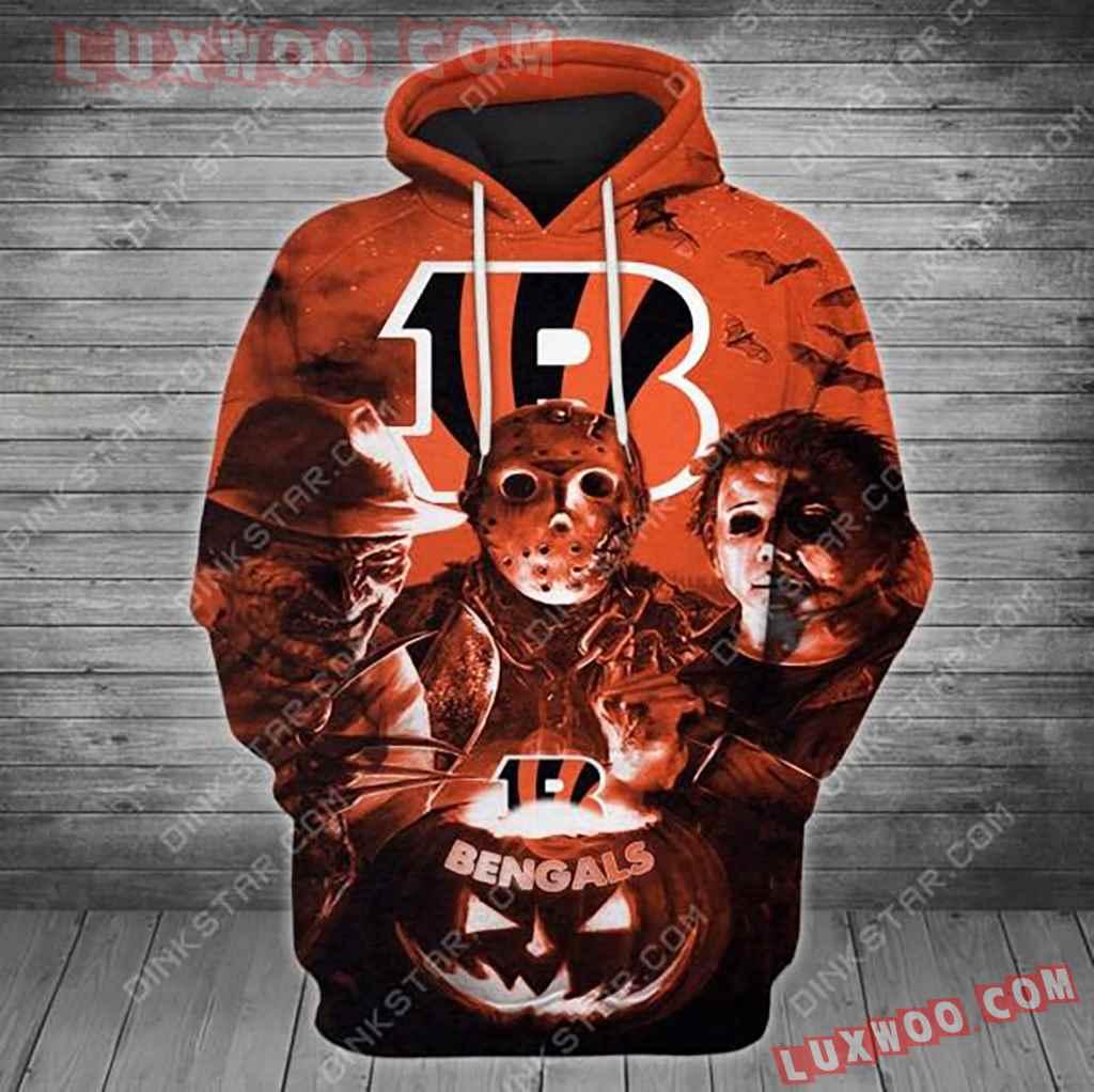 Nfl Cincinnati Bengals Halloween With 3d Hoodie