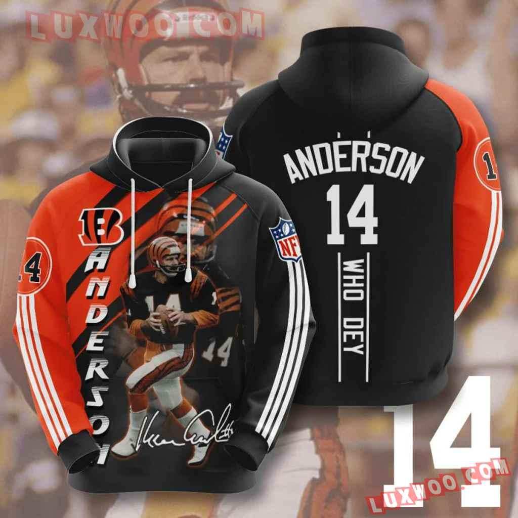 Nfl Cincinnati Bengals Ken Anderson 3d Hoodie For Men For Women All Ov