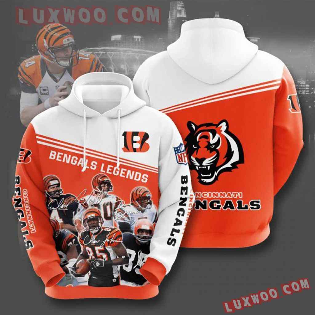 Nfl Cincinnati Bengals Pullover And Zippered Hoodies Custom 3d Graphic
