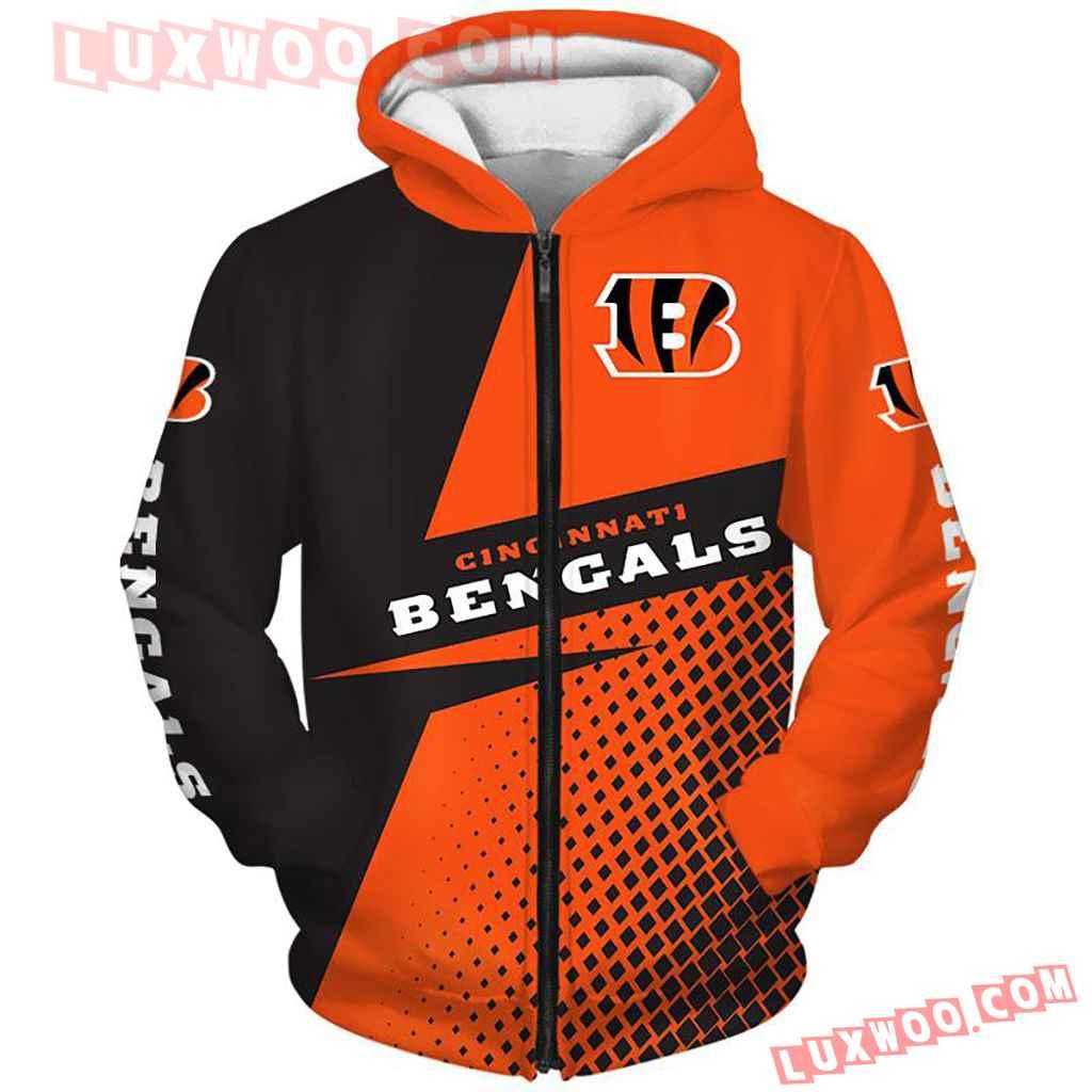 Nfl Cincinnati Bengals Pullover And Zippered Hoodies Custom Graphic 3d