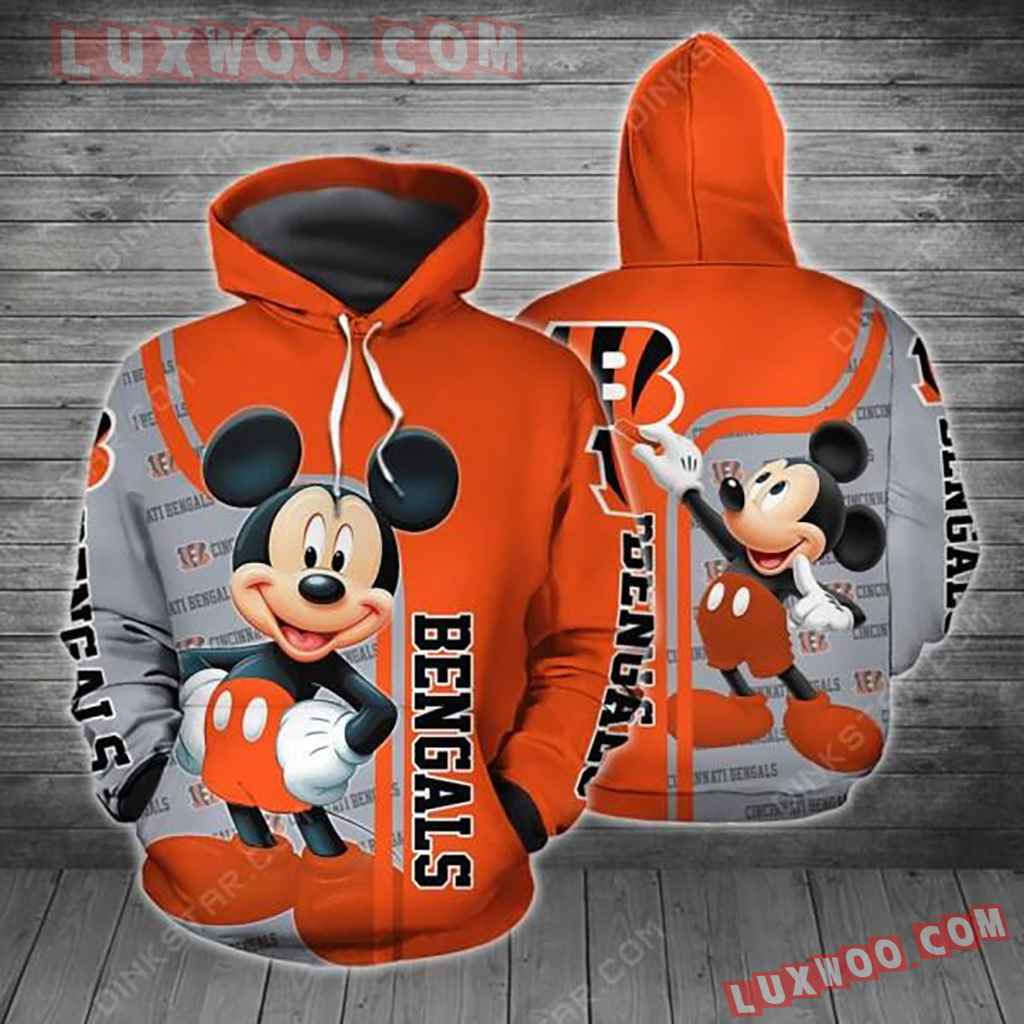 Nfl Cincinnati Bengals With Mickey 3d Hoodie