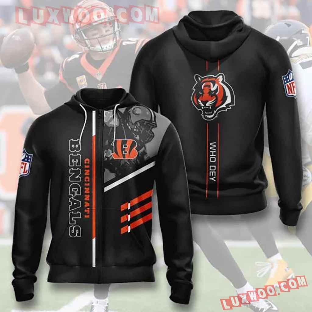 Nfl Cincinnati Bengals Zip Up Hoodie Moa4e