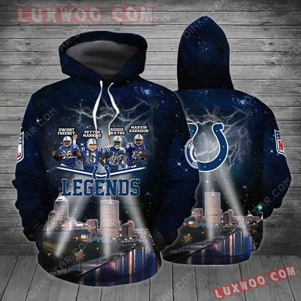 Nfl Indianapolis Colts 3d Hoodie 4486