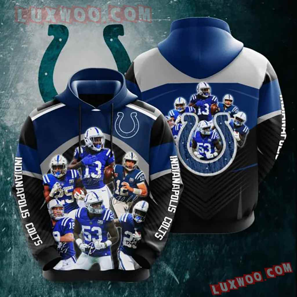 Nfl Indianapolis Colts 3d Hoodie 5