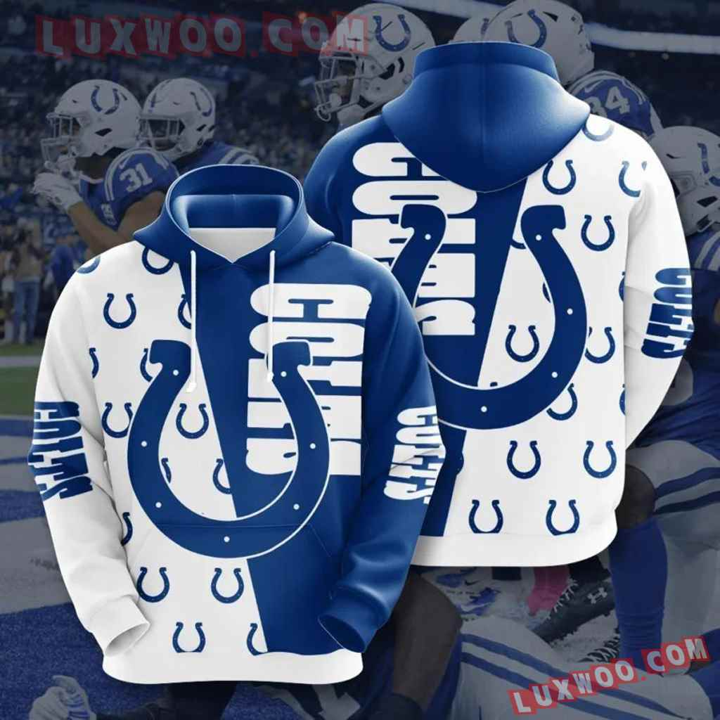 Nfl Indianapolis Colts 3d Hoodie All Over Phd10hd08