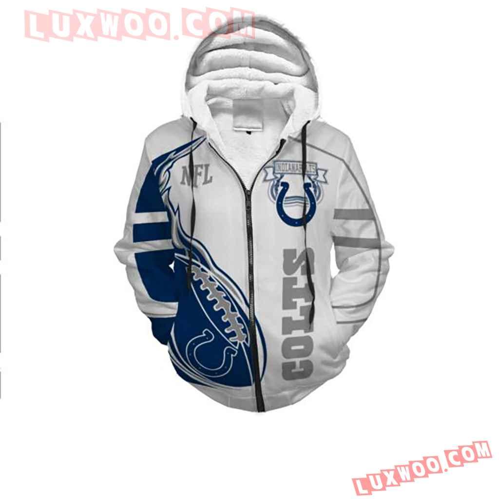 Nfl Indianapolis Colts 3d Zip Hoodie 4578