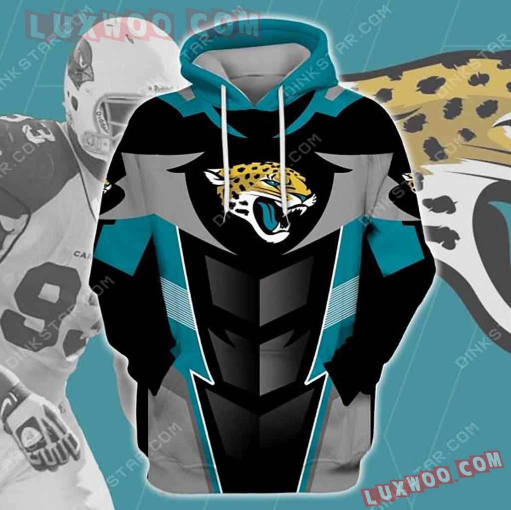 Nfl Jacksonville Jaguars 3d Hoodie 3235
