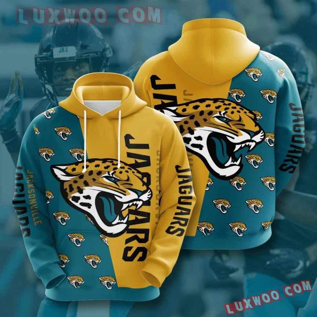 Nfl Jacksonville Jaguars 3d Hoodie All Over Phd10hd08
