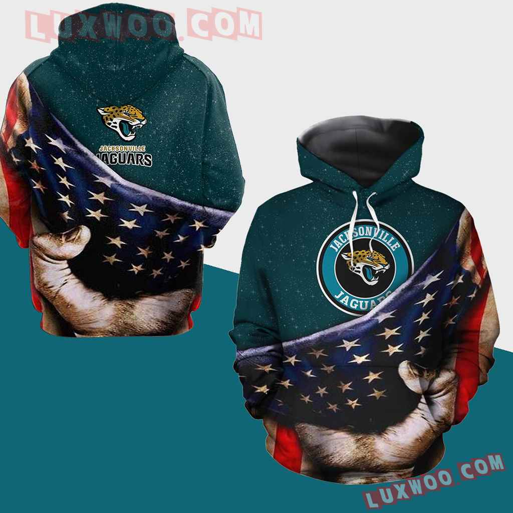 Nfl Jacksonville Jaguars Pullover And Zippered Hoodies All Over Print