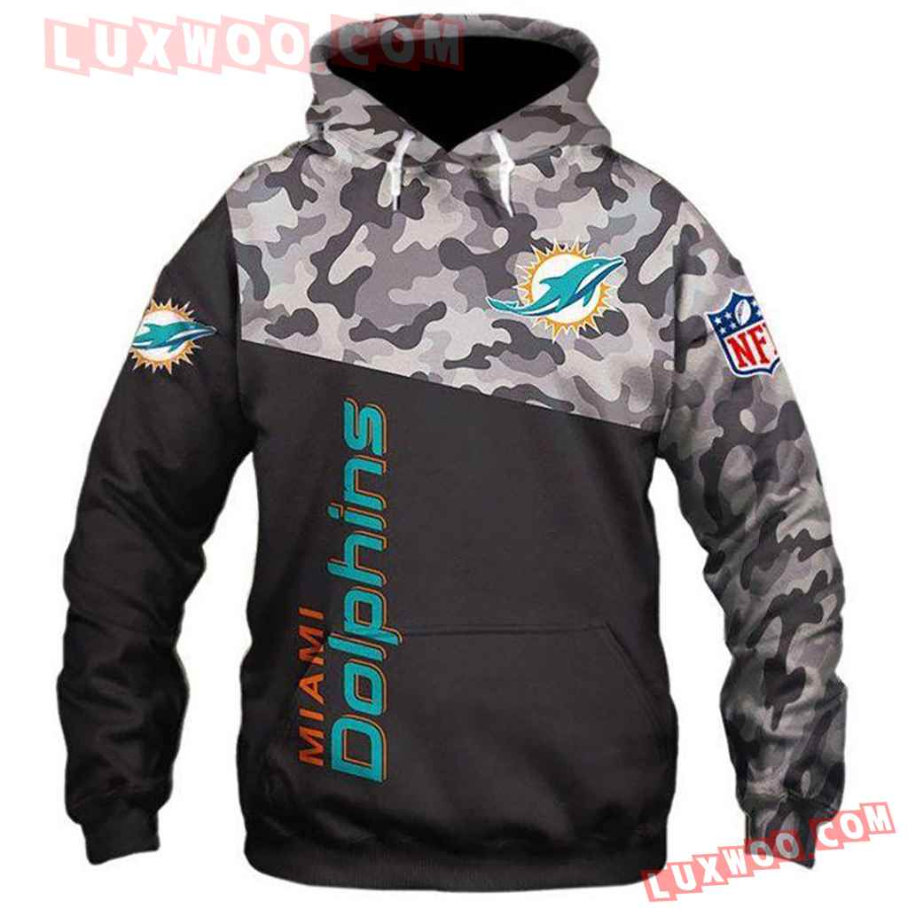 Nfl Miami Dolphins 3d Hoodie For Men For Women 1