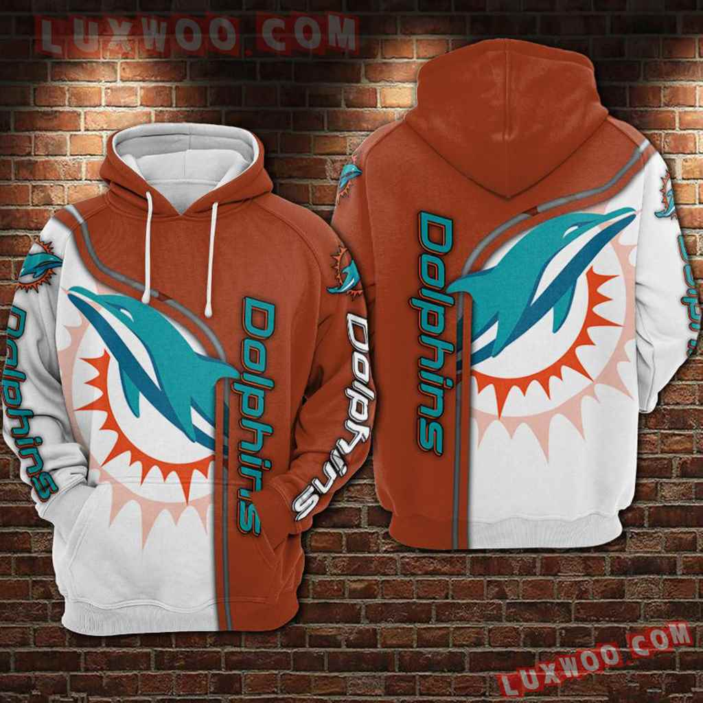 Nfl Miami Dolphins 3d Hoodie For Men For Women All Over Printed Hoodie 1