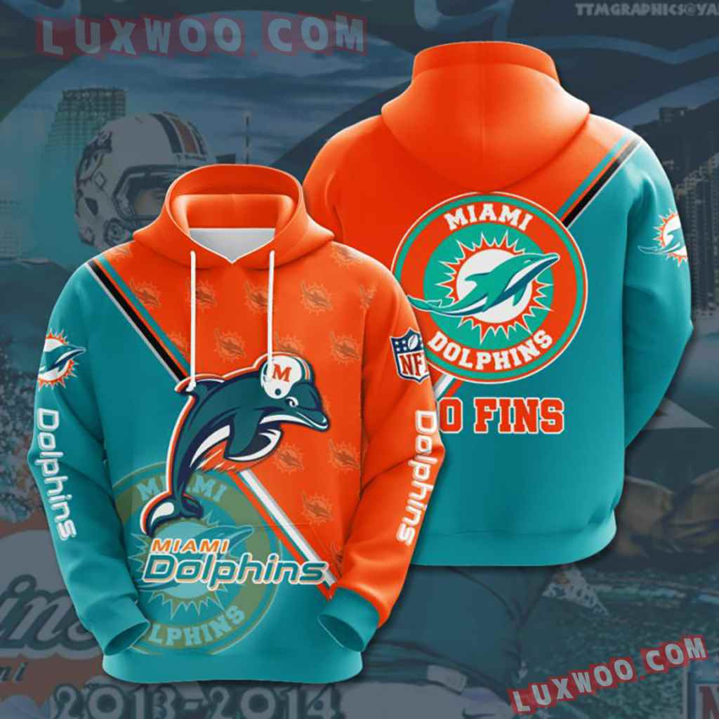 Nfl Miami Dolphins 3d Hoodie For Men For Women All Over Printed Hoodie