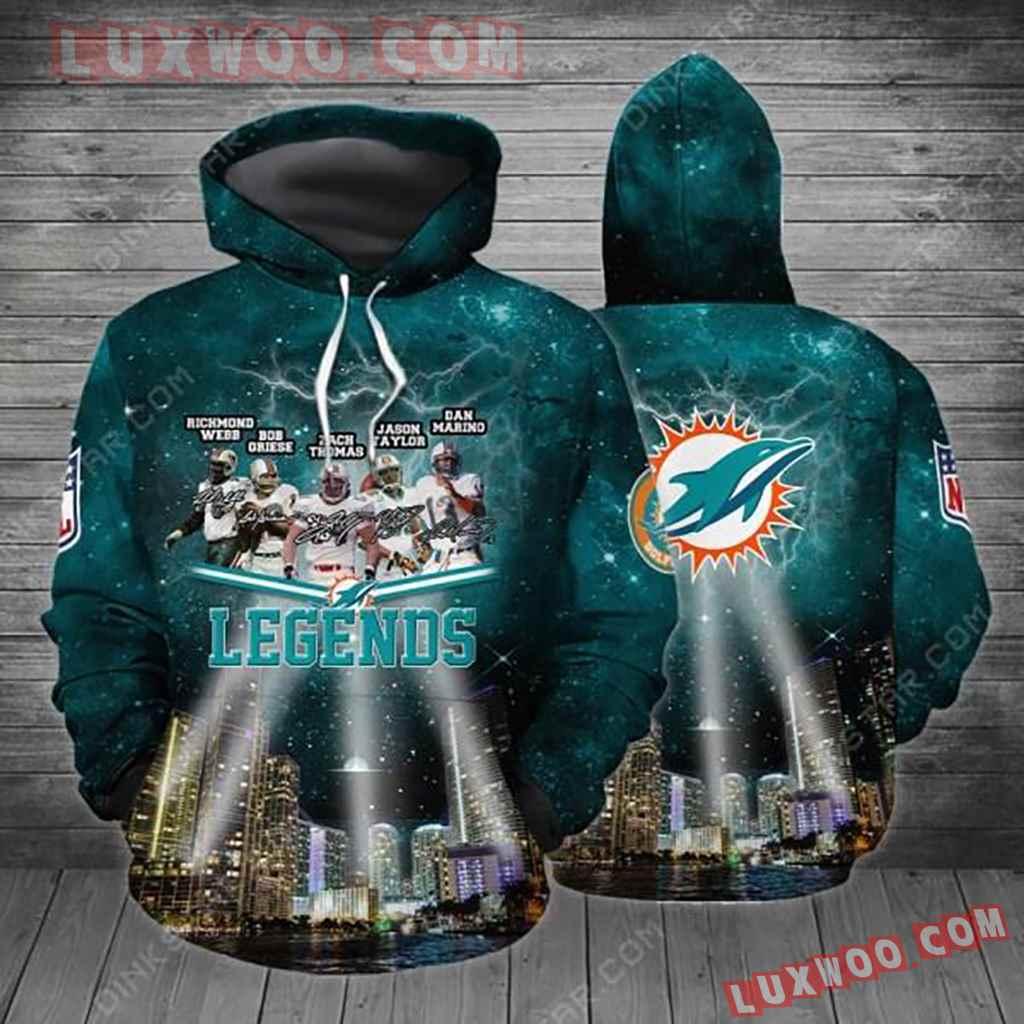 Nfl Miami Dolphins Legend Hoodie Tnt-01026-auh