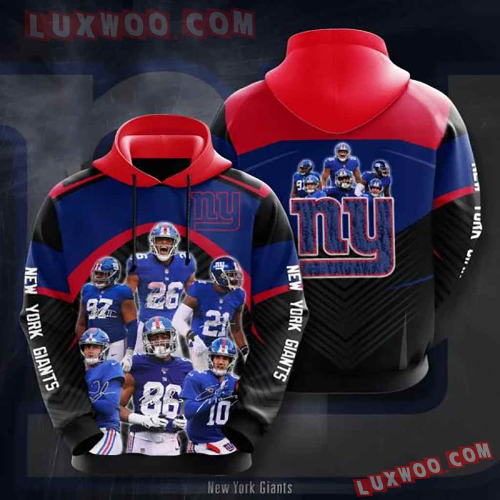 Nfl New York Giants 3d Hoodie 12