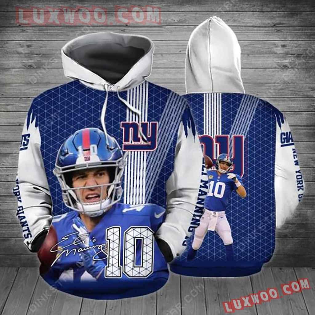 Nfl New York Giants 3d Hoodie 4955
