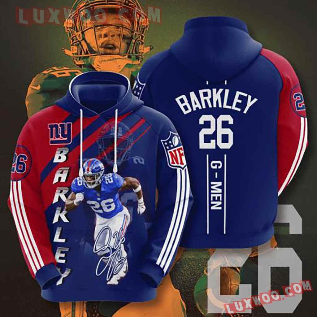 Nfl New York Giants 3d Hoodie V5