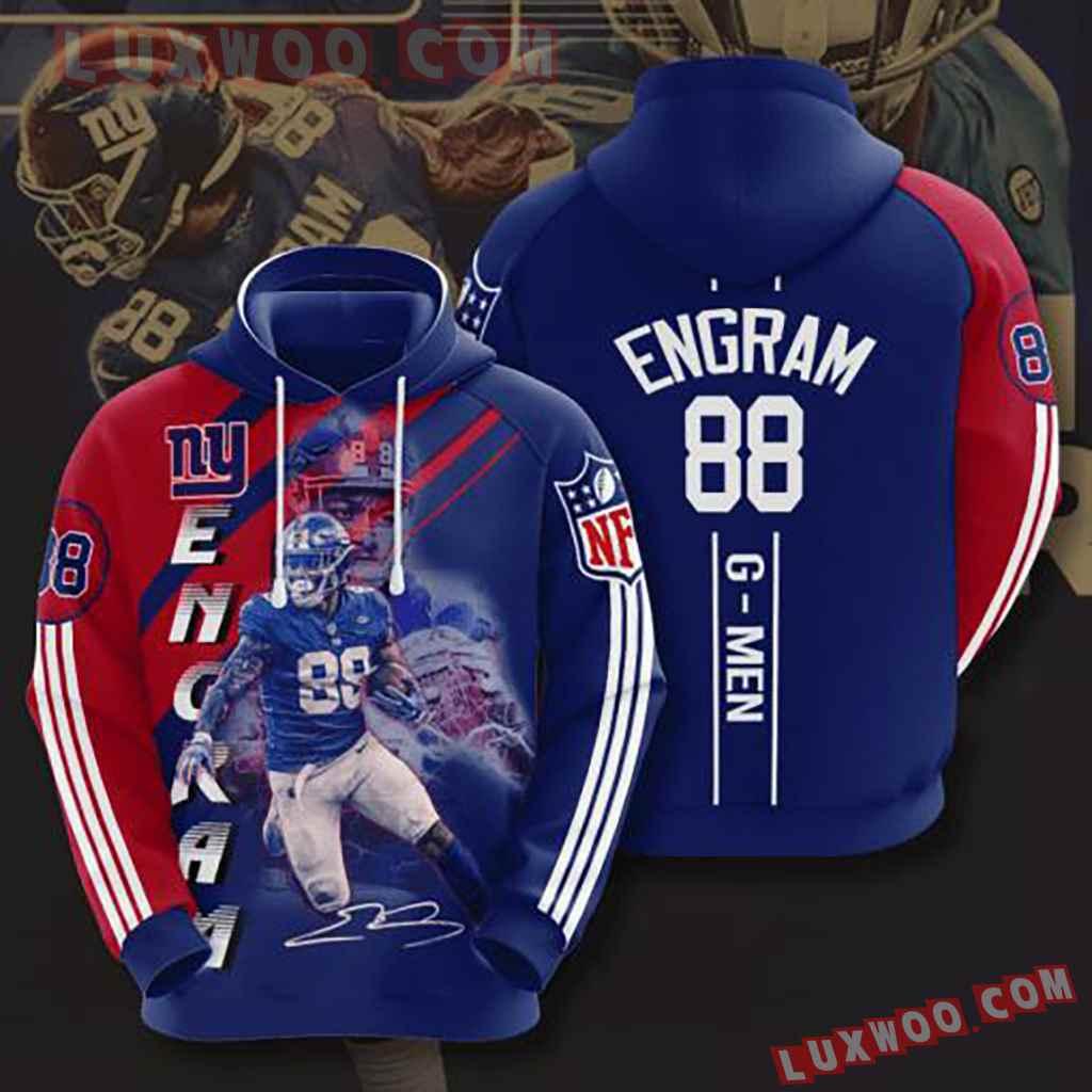 Nfl New York Giants 3d Hoodie V6