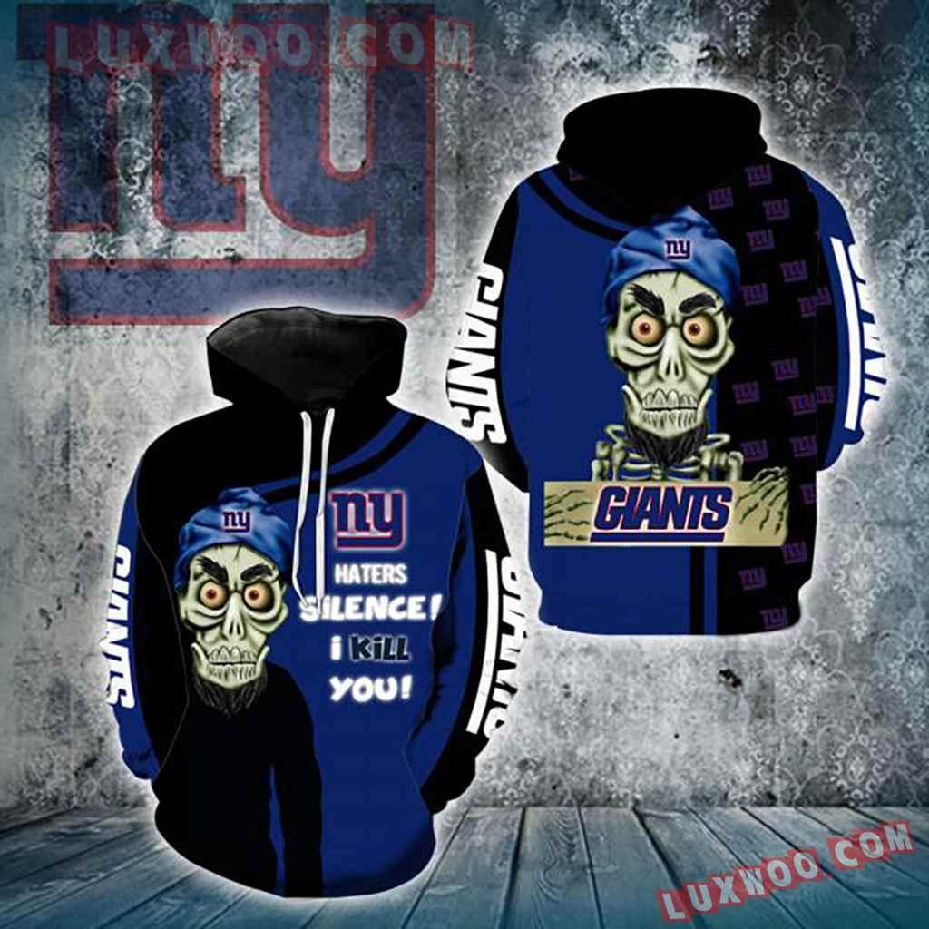 Nfl New York Giants Achmed Skull 3d Hoodie Full All Over Print K1201