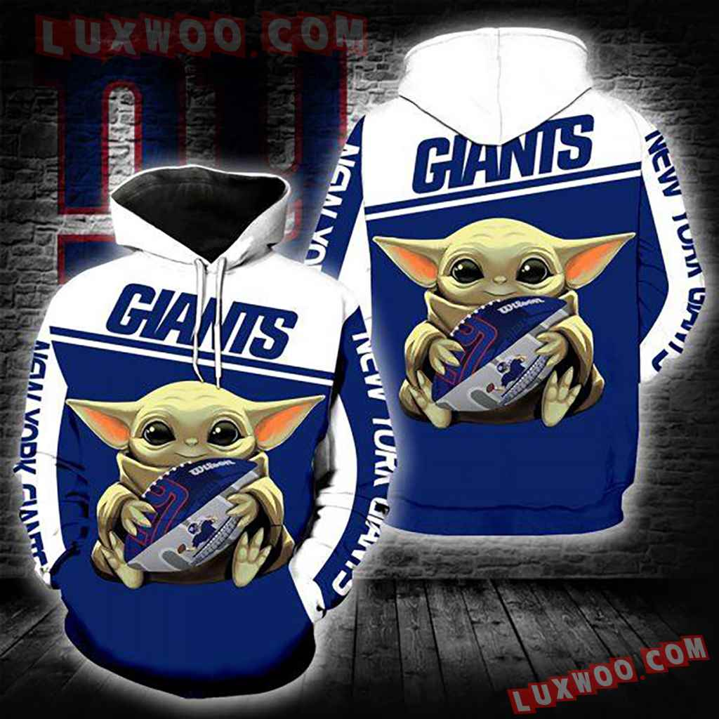 Nfl New York Giants Baby Yoda 3d Hoodie New Full All Over Print Tnt-00718-auh