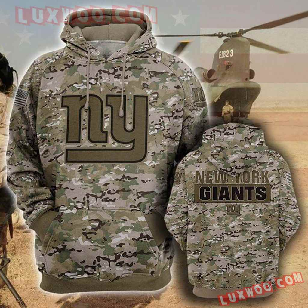 Nfl New York Giants Camo Hoodies Custom 3d Graphic Printed For Men For