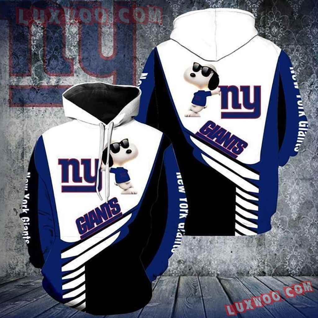 Nfl New York Giants Football Snoop Hoodies Custom 3d Graphic Printed F