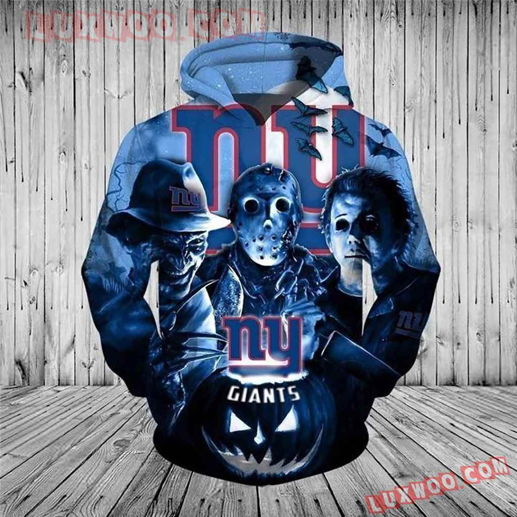Nfl New York Giants Halloween Horror Night Pullover And Zippered Hoodi