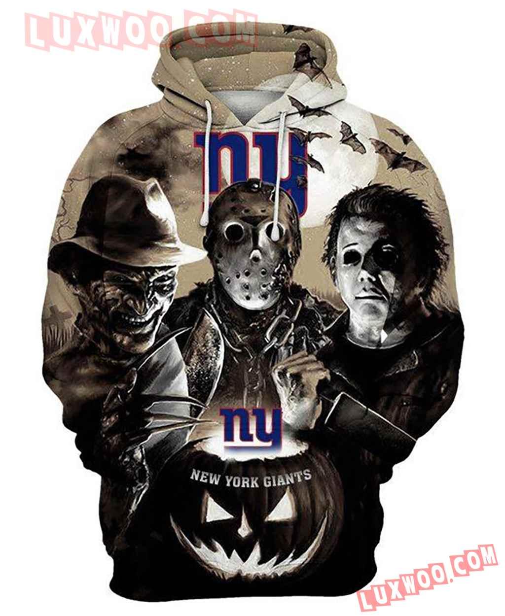 Nfl New York Giants Horror Icons 3d Hoodie For Men For Women All Over