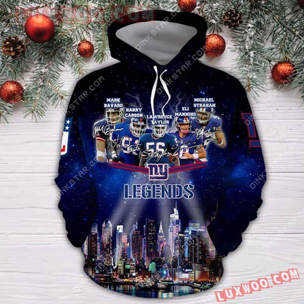 Nfl New York Giants Legends 3d Hoodie Tnt-00722-auh