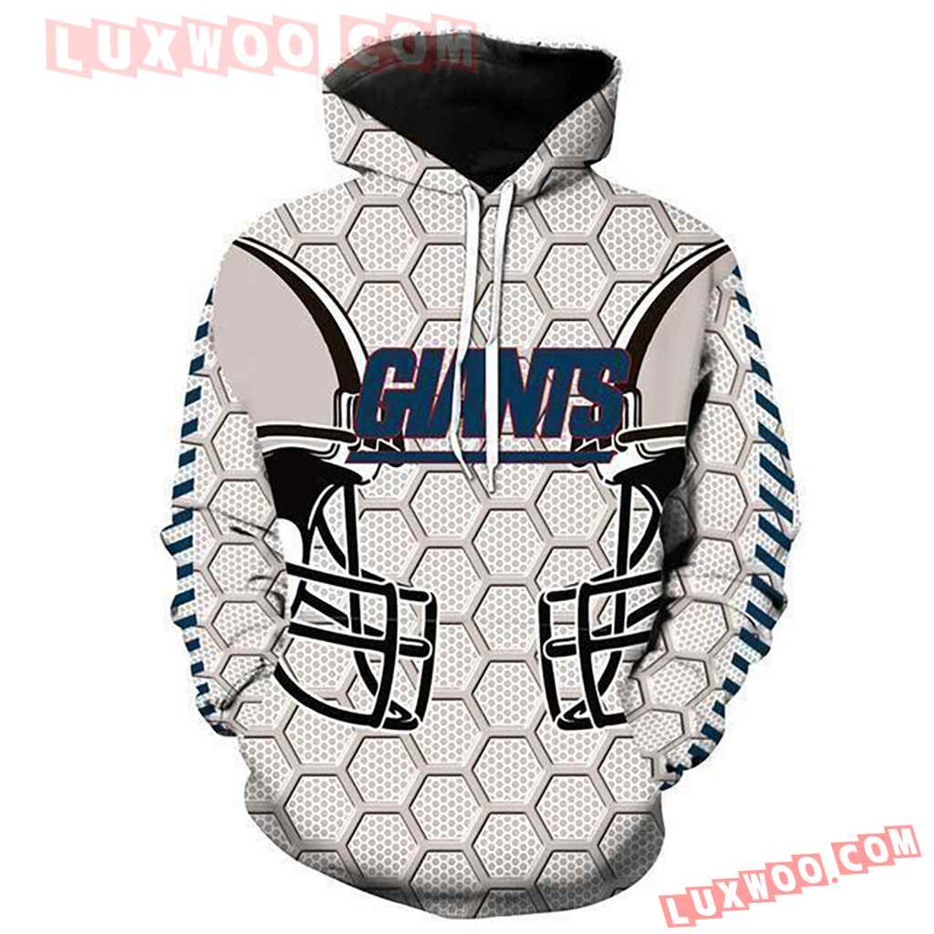 Nfl New York Giants Pullover And Zippered Hoodies Custom 3d Graphic Pr