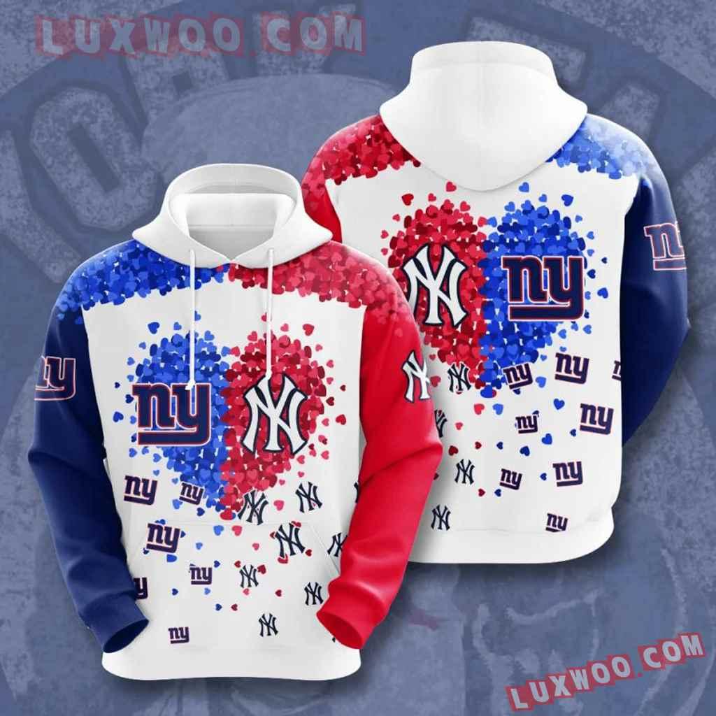 Nfl New York Giants Vs New York Yankees 3d Hoodie For Men For Women Al