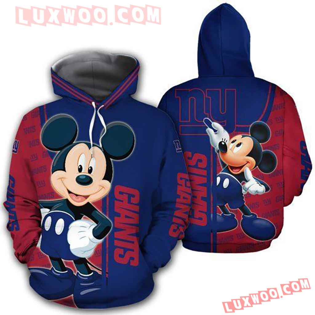 Nfl New York Giants With Mickey 3d Hoodie 4405