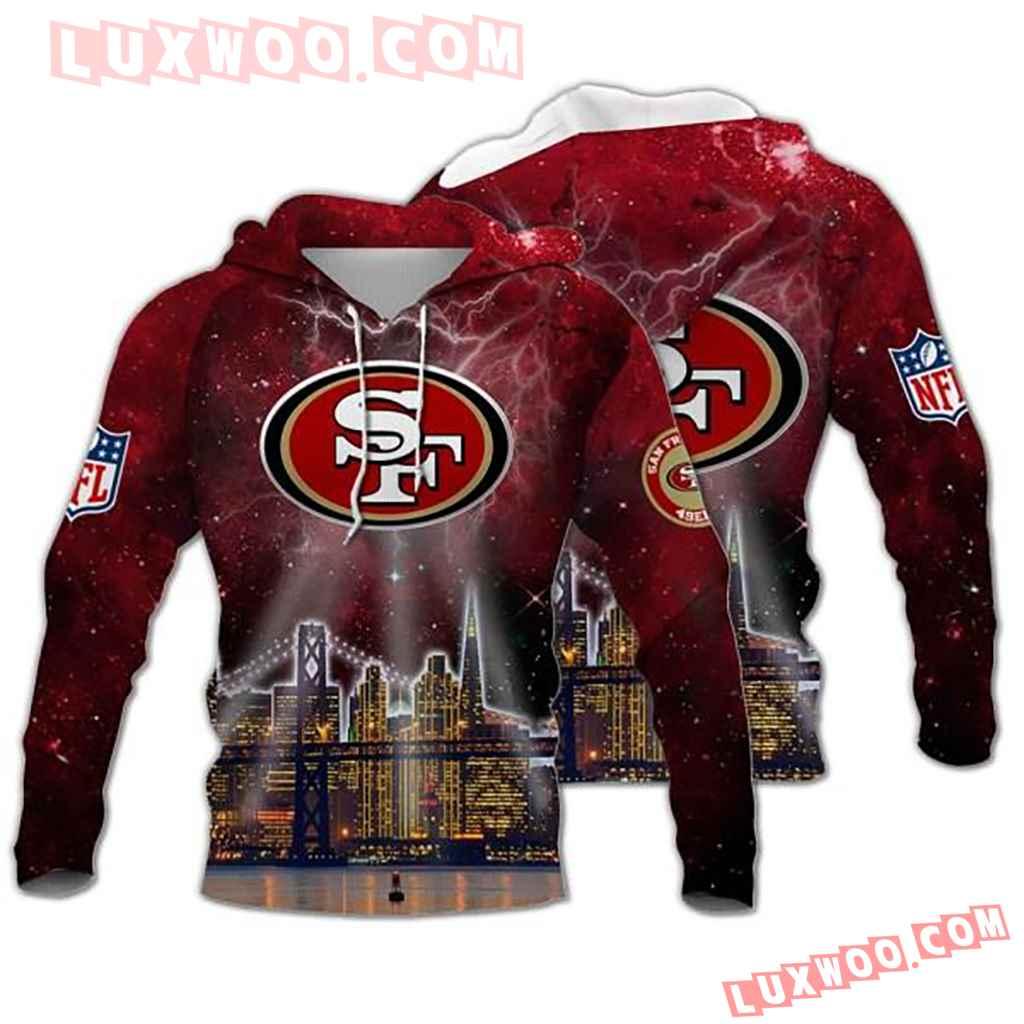 Nfl San Francisco 49ers Galaxy 3d Hoodie 3904
