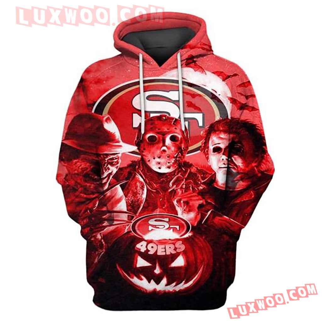 Nfl San Francisco 49ers Halloween With 3d Hoodie 3324