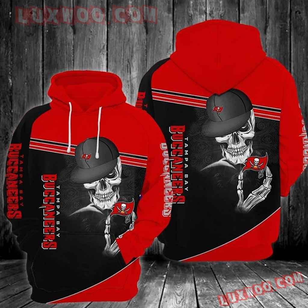Nfl Tampa Bay Buccaneers Skull 3d Hoodie 003