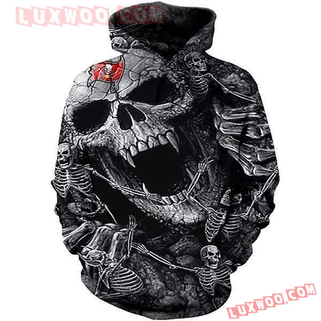 Nfl Tampa Bay Buccaneers Skull 3d Hoodie All Over Print Hoodie For Men